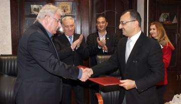 اتفاقية تعاون مع جامعة الإسراء الأردنية الخاصة في المجال العلمي