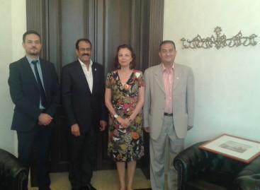 Întrevedere conducerii CCERPA cu E.S. Dna. Ambasador Taous DJELLOULI