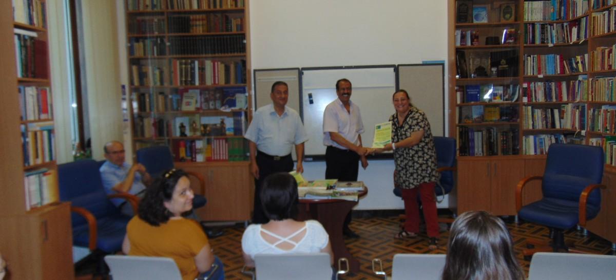 Înmânarea Diplomelor de absolvire cursanților modului de începători limba arabă