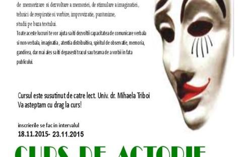 Cursul de actorie