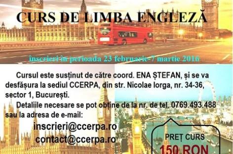 CURS LIMBA ENGLEZĂ