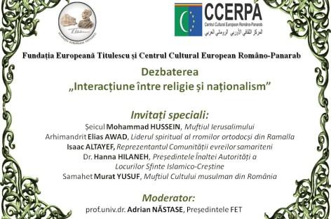 Dezbatere tematică Interacțiune între religie și naționalism