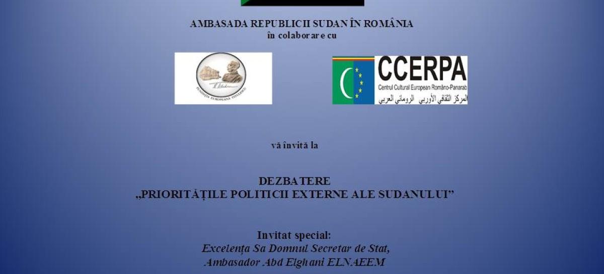 """Dezbatere """"Prioritățile politicii externe ale Sudanului"""""""